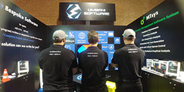 Umbani Software Dev Team showing off their new shirts at Electra Mining Africa 2018