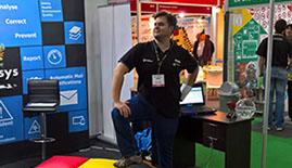 Shane Horn at Umbani Software stand at A-OSH Expo 2016