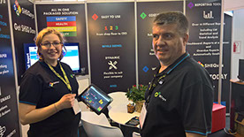 Tim and Mary-Anne Horn showing SHEQsys at Electra Mining Africa 2016