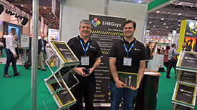 Tim and Shane Horn showing SHEQsys at the Safety & Health Expo 2017